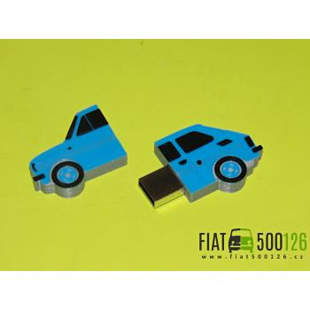 Flash disk Fiat 126 32GB - modrý