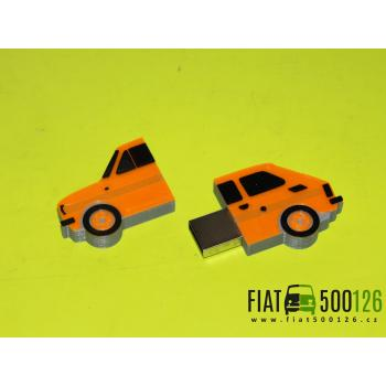 Flash disk Fiat 126 32GB - oranžový