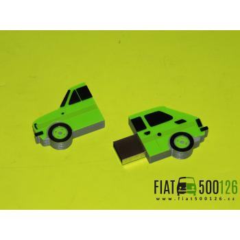 Flash disk Fiat 126 32GB - zelený