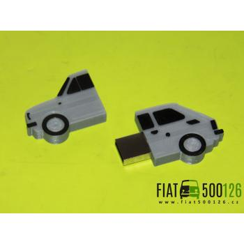 Flash disk Fiat 126 32GB - šedý